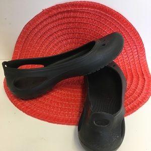 Crocs black flats size 9